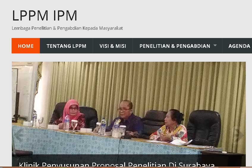 Peresmian Website LPPM